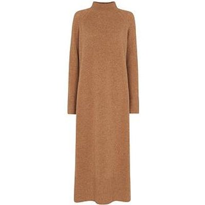 Whistles Funnel Longline Dress - Camel