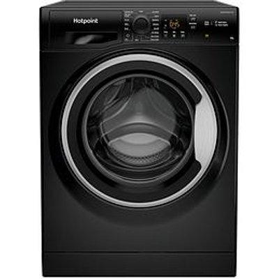 Hotpoint Nswm963Cbsuk 9Kg Load, 1600 Spin Washing Machine - Black