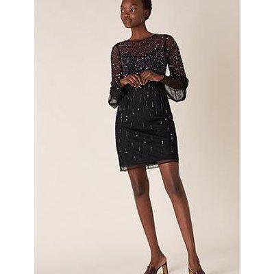 Monsoon Henrietta Heart Sequin Tunic Dress - Black