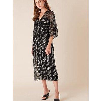Monsoon Perpetua Sequin Twist Dress - Black