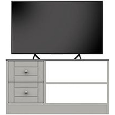 Alderley Ready Assembled Tv Unit - Grey - Fits Up To 50 Inch Tv