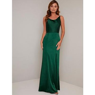 Chi Chi London Molly-Mae Bodycon Maxi Dress - Green