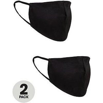 V By Very 2 Pack Satin Face Coverings - Black