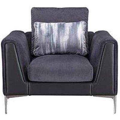 Alder Fabric/Leather Armchair