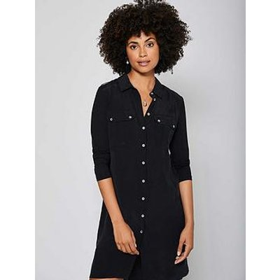 Mint Velvet Black Jersey Sleeve Dress
