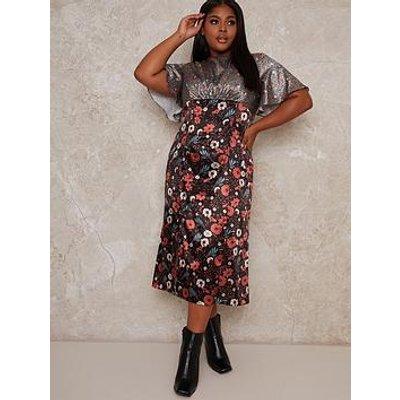 Chi Chi London Curve Robbin Dress - Multi