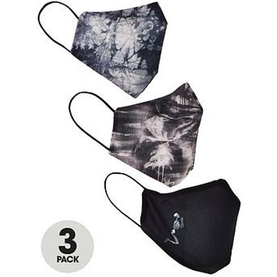 Religion 3Pk Printed & Plain Face Masks