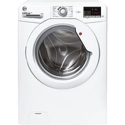 Hoover H-Wash 300 H3W 482De/1-80 8Kg Load, 1400 Spin Washing Machine - White