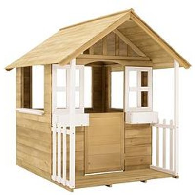 Tp Wooden Cubby Playhouse With Veranda