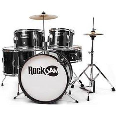 Rockjam Rj105 5-Piece Junior Drum Set Black