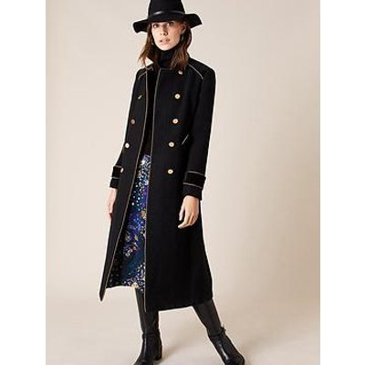 Monsoon Maddie Military Coat - Black