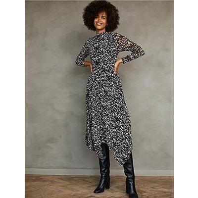 Mint Velvet Mint Velvet Roselea Print Trapeze Jersey Midi Dress