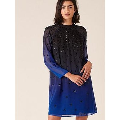 Monsoon Monsoon Florentina Sustianable Ombre Emb Dress