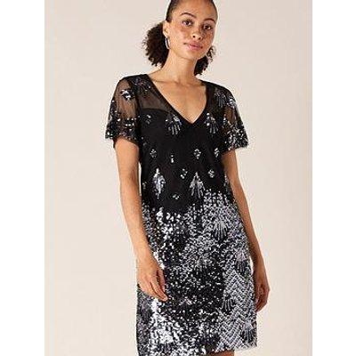 Monsoon Beatrix Embellished Tunic Dress - Black