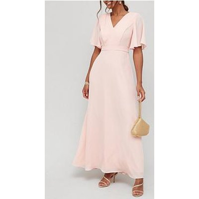 V By Very Bridesmaids Pleated Maxi Dress - Blush