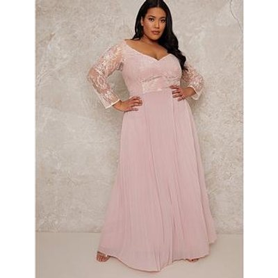 Chi Chi London Curve Chrissy Dress - Blush