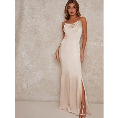 Chi Chi London Trey Bridesmaid Dress - Champagne