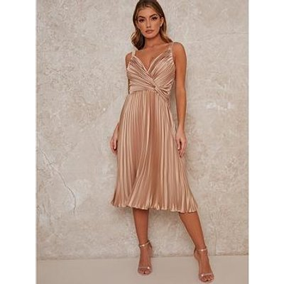 Chi Chi London Tayla Bridesmaid Dress - Champagne