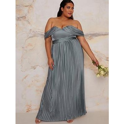 Chi Chi London Curve Lauren Bridesmaid Dress - Green
