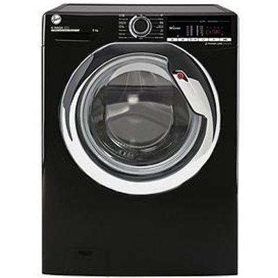 Hoover H-Wash 300 H3Ws495Tacbe/1-80 9Kg Load, 1400 Spin Washing Machine - Black