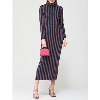 Olivia Rubin Fliss Metallic Stripe Bodycon Dress - Black/Multi
