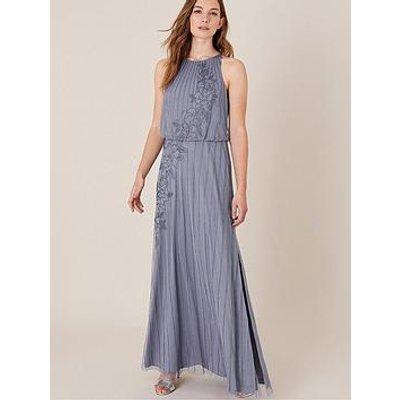 Monsoon Summer Sustainable Embellished Maxi Dress - Blue