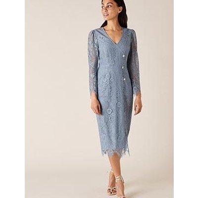 Monsoon Lettie Lace Midi Dress - Blue