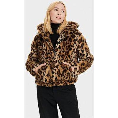 Ugg Mandy Faux Fur Hooded Jacket - Leopard