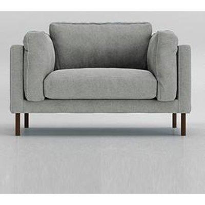 Swoon Munich Original Fabric Love Seat - Soft Wool