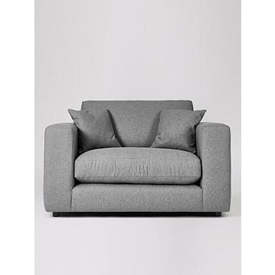 Swoon Althaea Original Fabric Love Seat - Soft Wool