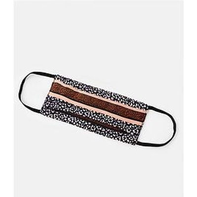 Accessorize Accessorize Pure Silk Leopard Spliced Face Cover