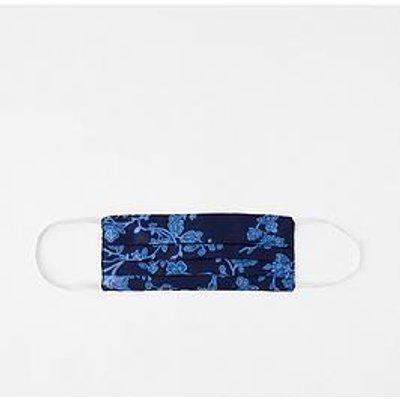 Accessorize Pure Silk Floral Face Cover - Blue