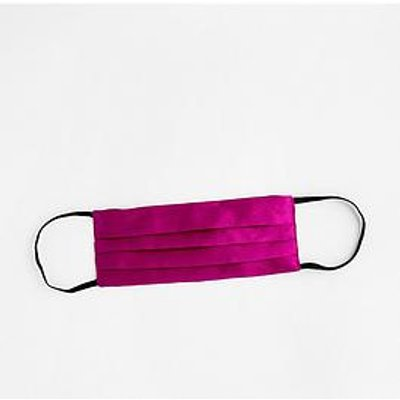 Accessorize Pure Silk Face Cover - Fuchsia