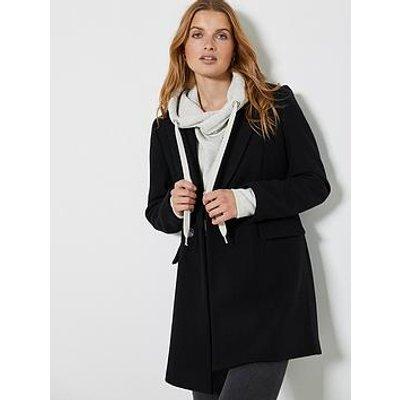 Mint Velvet Black Double Breasted Coat