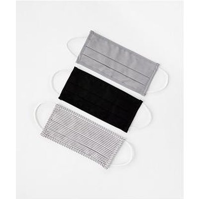 Accessorize 3 X Multipack Cotton Face Cover - Grey