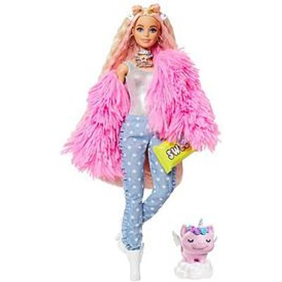 Barbie Extra Doll - Pink Fluffy Coat