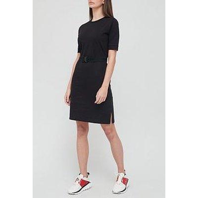 Hugo Degumi Belted Jersey Dress - Black