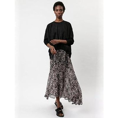 Religion Printed Mark Maxi Skirt - Multi