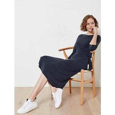 Mint Velvet Mint Velvet Navy Tie Front Jersey Dress
