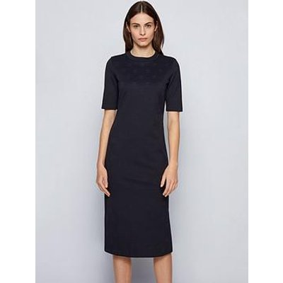 Boss Eylla Jersey Midi Dress - Navy