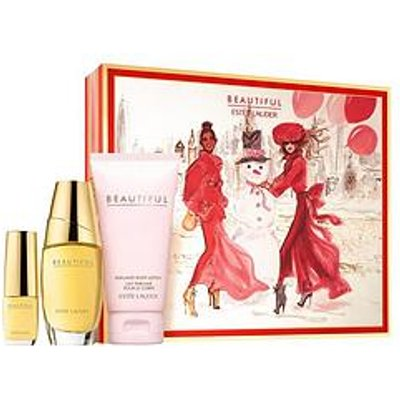 Estee Lauder Beautiful 30Ml Eau De Parfum, 75Ml Body Lotion + 4.7Ml Gift Set