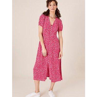 Monsoon Print Tea Dress - Pink