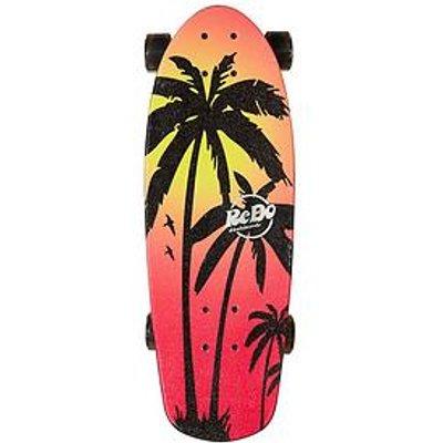 Redo Skateboard Co. Shorty Cruiser Pink Palm Skateboard