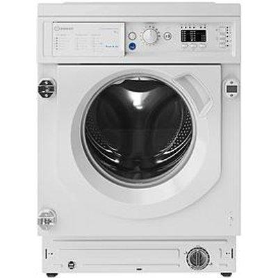 Indesit Biwmil91484 Built-In 9Kg Load, 1400 Spin Washing Machine - White - Washing Machine With Installation