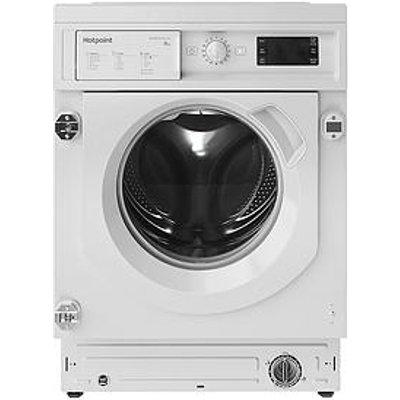 Hotpoint Biwmhg81484 Built-In 8Kg Load, 1400 Spin Washing Machine - White - Washing Machine Only