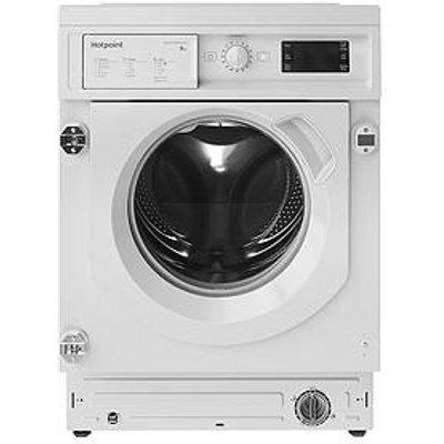 Hotpoint Biwmhg91484 Built-In 9Kg Load, 1400 Spin Washing Machine - White - Washing Machine Only