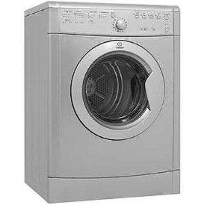 Indesit Idvl75Brs 7Kg Load, Vented Tumble Dryer - Silver