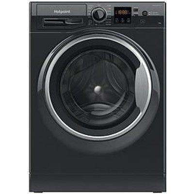 Hotpoint Nswm1043Cbsukn 10Kg Load, 1400 Spin Washing Machine - Black