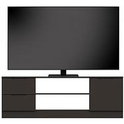 Bilbao Ready Assembled High Gloss Tv Unit - Graphite - Fits Up To 65 Inch Tv