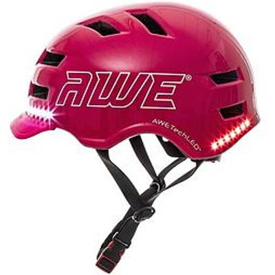 Awe Awe E Bike/Scooter/Bicycle Junior/Adult Helmet 55-58Cm Pink Ce